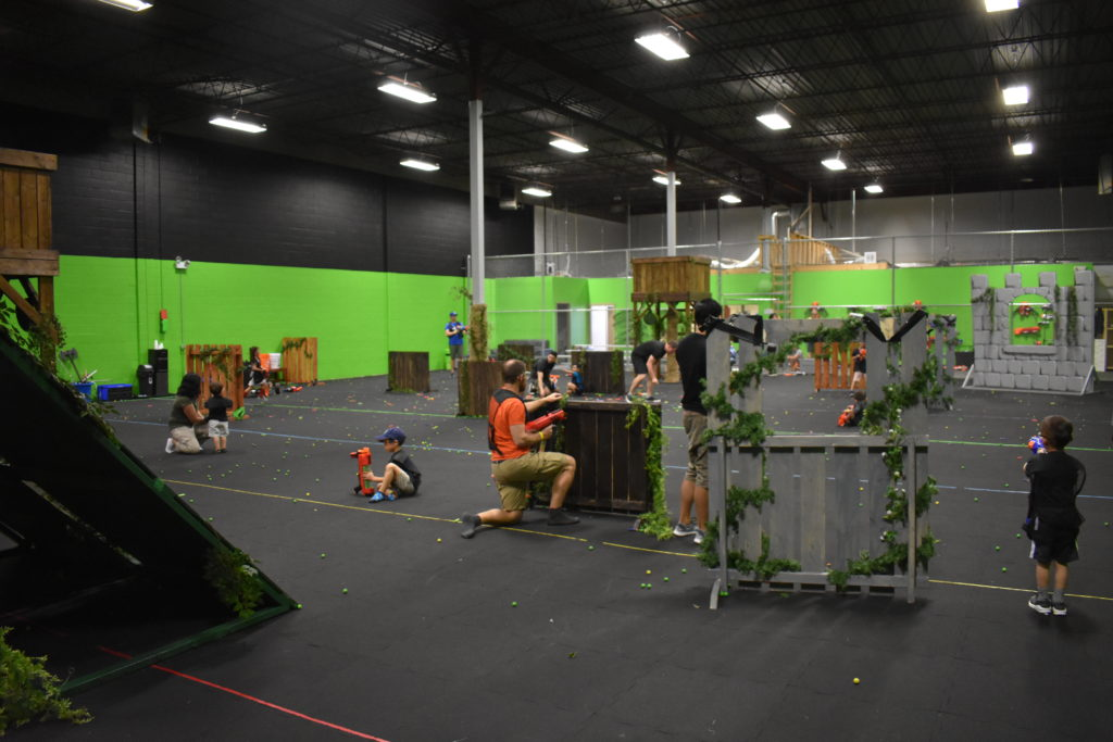 Taking Place In A Huge 5200 Sq Foot Arena Guests Will Be Able To Duck Dodge Shoot And Climb With Their Friends An Epic Unforgettable Nerf Battle